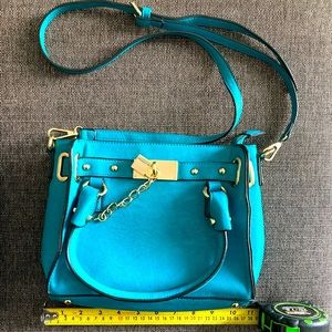 CHARMING CHARLIE Crossbody Bag Purse Blue Green